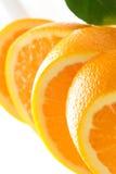 Plan rapproché des parts oranges photos stock