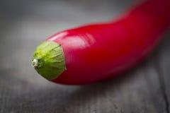 Plan rapproché des piments rouges Photographie stock