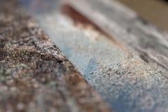 Plan rapproché des planches en bois rouillées Photo stock