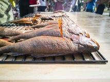 Plan rapproché des poissons Grilled images libres de droits
