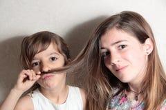 Plan rapproché des soeurs Photographie stock libre de droits