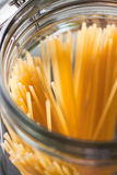 Plan rapproché des spaghetti italiens image stock
