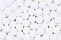 Plan rapproché des tablettes d'aspirine Photographie stock