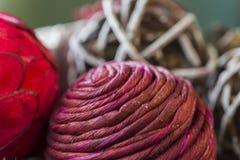Plan rapproché des textures et des belles couleurs du Ba de pot-pourri de vacances images stock