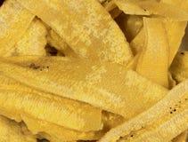 Amincissez les tranches sèches de plantain Images stock