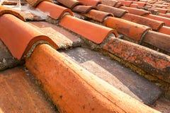 Plan rapproché des tuiles de toit Image libre de droits