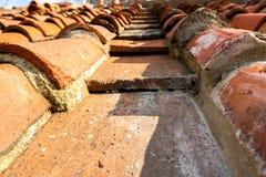 Plan rapproché des tuiles de toit Images stock