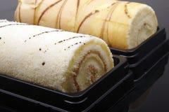 Plan rapproché doux de roulis de gâteau Photos stock