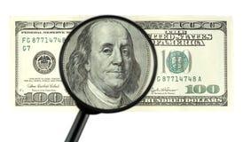 Plan rapproché du billet de banque $100 Images stock