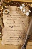 Plan rapproché du compas, télescope sur la carte Images libres de droits
