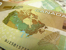 Plan rapproché du dollar canadien Photo stock