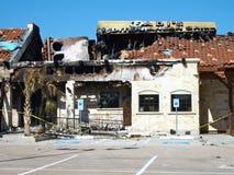 Plan rapproché du feu du restaurant de Fadi Images stock