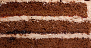 Plan rapproché du gâteau crème Photographie stock libre de droits