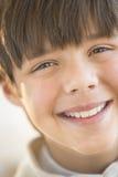 Plan rapproché du sourire de Little Boy Images stock
