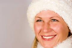 Plan rapproché du visage de sourire de la fille Photo stock