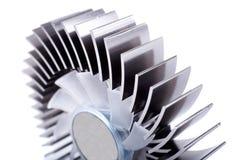 Plan rapproché en aluminium de refroidisseur Images stock