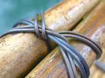 Plan rapproché en bambou de texture de construction photos stock