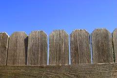 Plan rapproché en bois de frontière de sécurité photo libre de droits