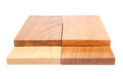Plan rapproché en bois de la planche quatre Photo stock