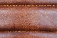 Plan rapproché en cuir brun-rougeâtre photos stock