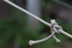 Plan rapproché en nylon de fond de corde Photos stock