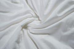 Plan rapproché en soie modelé par blanc Photos libres de droits