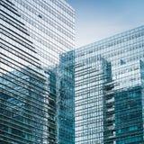 Plan rapproché en verre moderne de gratte-ciel Photo stock