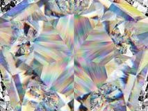 Plan rapproché et kaléidoscope extrêmes de structure de diamant Photographie stock libre de droits