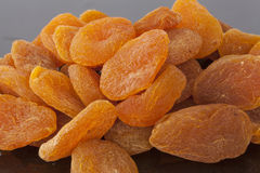 Plan rapproché exotique d'abricots secs Photos libres de droits