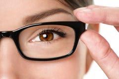 Plan rapproché eyewear en verre Images libres de droits