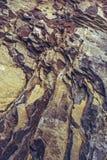Plan rapproché ferrique de strates de roche photos libres de droits