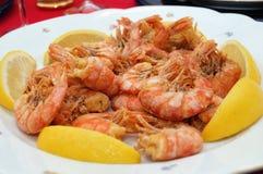 Plan rapproché frit de crevettes photographie stock