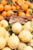 Plan rapproché, fruits, oranges, citrons Photo libre de droits