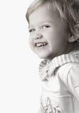 Plan rapproché heureux souriant de petite fille Image stock