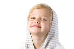 Plan rapproché heureux souriant de petite fille Photo stock