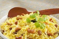 Plan rapproché indien de pilaf de riz basmati image stock