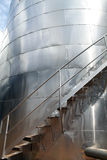 Plan rapproché inoxydable de silo Photographie stock