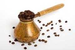 Plan rapproché IV de grains de café Photos libres de droits