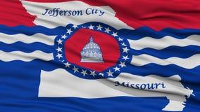 Plan rapproché Jefferson City Flag Photos stock