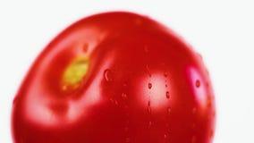 Plan rapproché juteux frais de tomate Nutrition saine banque de vidéos