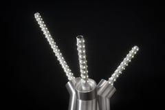 Plan rapproché léger mené de détail de bande de rayure de lampe de diode de bande Images stock