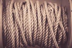 Plan rapproché marin de corde Photographie stock