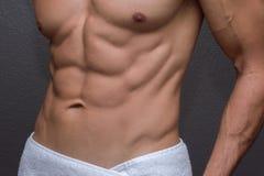 Plan rapproché masculin d'ABS Photos stock