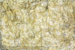 Plan rapproché minéral de matériel d'isolation de laine de roche pour le fond Photographie stock libre de droits