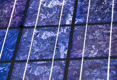 Plan rapproché moderne de pile solaire Photos libres de droits