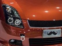 Plan rapproché moderne de voiture rapide Photo libre de droits