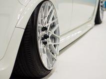 Plan rapproché moderne de voiture rapide Images stock