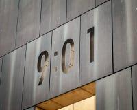 Plan rapproché national de mémorial de bombardement de Ville d'Oklahoma images stock