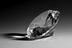 Plan rapproché noir et blanc de diamant Photographie stock
