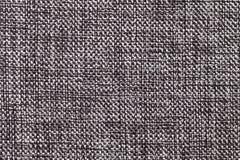 Plan rapproché noir et blanc de fond de textile Structure du macro de tissu Photographie stock libre de droits